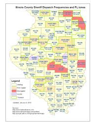 Illinois County Map File Il County Sheriff Dispatch Frequencies Map Jpg The