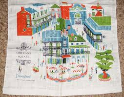 New Orleans Street Map by Stuff From The Park Souvenir Friday New Orleans Square Tea Towel