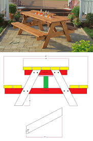 Make A Picnic Table Free Plans by Best 10 Diy Picnic Table Ideas On Pinterest Outdoor Tables