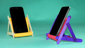 popsicle stick diy phone stand how to make mobile stand with ice