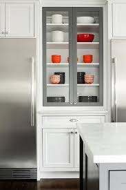 refrigerators with glass doors kitchen with two glass front refrigerators transitional kitchen
