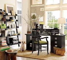 exciting black polished office table with drawer storage also
