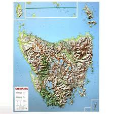 map of tasmania australia tasmania 3d relief map the tasmanian map centre