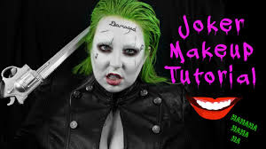 Female Joker Halloween Costume by Halloween Quick And Easy Joker Makeup Tutorial Jared Leto Youtube