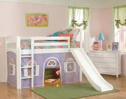 Twin Bed With Pull Out Bed Bedding Trendy Twin Loft Bed With Slide