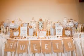 wedding candy table rustic burlap candy tables cw distinctive designs