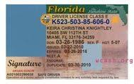 Florida Drivers License Template template florida drivers license editable photoshop file psd
