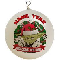 star wars yoda christmas ornament custom gift 19