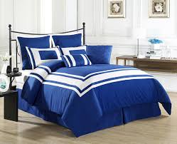 Blue Bed Frame Bed Bath Bedroom With Black Steel Headboard Bed And