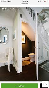 bathroom under stairs inside house stuff pinterest basements