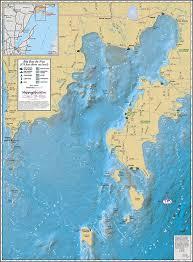 Michigan Lighthouses Map big bay de noc wall map