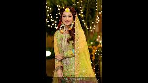 New Pakistani Bridal Dresses Collection 2017 Dresses Khazana Top Pakistani Bridal Mehndi Dress Designs And Colour Combination