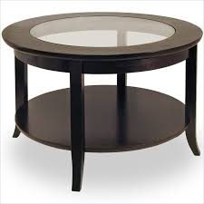 Espresso Side Table Round Glass Coffee Table Wood Base Round Reclaimed Wood Coffee