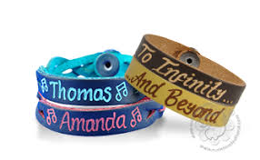 Custom Engraved Jewelry Personalized Leather Bracelets Free Shipping