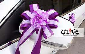 car ribbon wedding car decoration flowers artificial sucker ribbon decorative