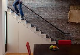 modern stair railing staircase contemporary with brown railing