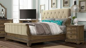 King Sleigh Bed Set by Pecan 6 Piece King Bedroom Set Touraine Collection Rc Willey