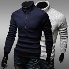 men u0027s high collar pullover sweater business casual slim sweaters