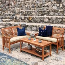 Outdoor Patio Furniture Manufacturers by Amazon Com Walker Edison Furniture Company Solid Acacia Wood