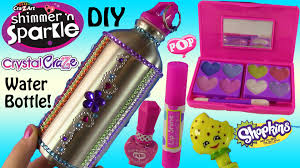 cra z art shimmer u0027n sparkle diy water bottle beauty set lip gloss