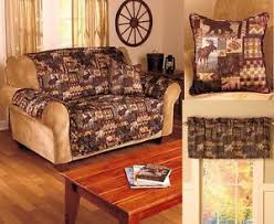wildlife home decor quilted lodge furniture covers wildlife cabin nature pillow