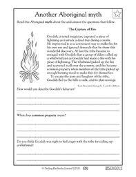 3rd grade reading writing worksheets reading comprehension myth