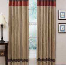 Tan And White Horizontal Striped Curtains Brilliant Red And Brown Curtains Teawingco Tan And Red Curtains