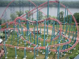 Six Flags Denver Six Flags New England Minderaser Rollercoaster Roller Coaster