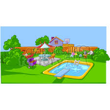 Backyard Clip Art Royalty Free Backyard 162902 Vector Clip Art Image Illustration