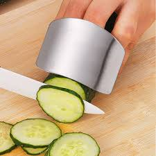 safety kitchen knives stainless steel finger protector finger guard cutting safety guard