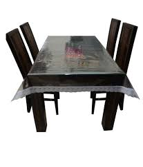Online Shopping For Dining Table Cover Decor Club Dining Table Cover Transparent With Silver Lace 6