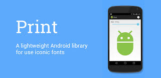 how to print on android the android arsenal fonts print