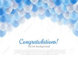 congratulation banner congratulation banner blue flying balls background above royalty