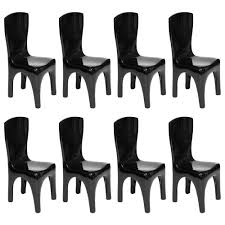black lacquer dining room furniture valerie goodman gallery dining chairs in lacquer by jacques