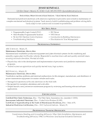 Manufacturing Experience Resume Free Electrician Resume Recentresumes Com