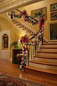 How To Decorate A Banister Best 25 Banister Christmas Decorations Ideas On Pinterest