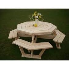 Woodworking Plans And Project Ideas Octagon Picnic Table Plans by Red Cedar Octagon Walk In Picnic Table Idei De încercat