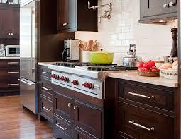 Kitchen With Brown Cabinets Brown Kitchen Cabinets Design Ideas
