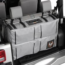 jeep wrangler overhead storage rightline gear trunk storage bag 3 6 cu ft gray aid kit