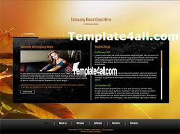 free orange business flash website template download