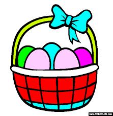 online easter baskets easter basket coloring page free easter basket online coloring