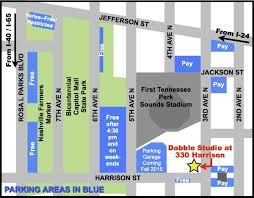 Nashville Tennessee Map by Downtown Nashville Parking Map Nashville Downtown Parking Map