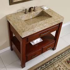 Granite Top Bathroom Vanity by Silkroad Exclusive Kashmir Gold Granite Top Single Stone Sink