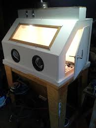 Homemade Blast Cabinet My 3 U0027x5 U0027 Blast Cabinet Made Of Wood The Garage Journal Board