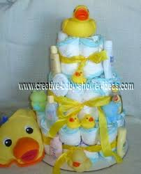 rubber ducky baby shower diaper cake ideas pinterest