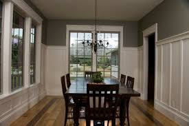 Pictures Of Wainscoting In Dining Rooms Wainscoting For Dining Room With Gray Walls
