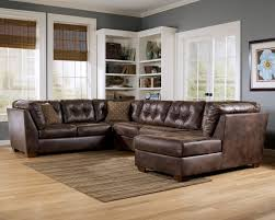Overstuffed Sectional Sofa Brown Leather Sectional Sofa With Chaise Centerfieldbar Com