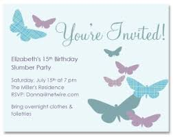 printable blue butterfly birthday invitation template