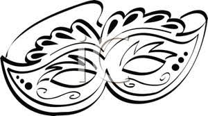 black and white mardi gras masks and white mardi gras mask clipart image