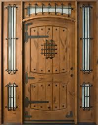 Wood Door Exterior Entry Door Knotty Alder Solid Wood Front Entry Door Single With